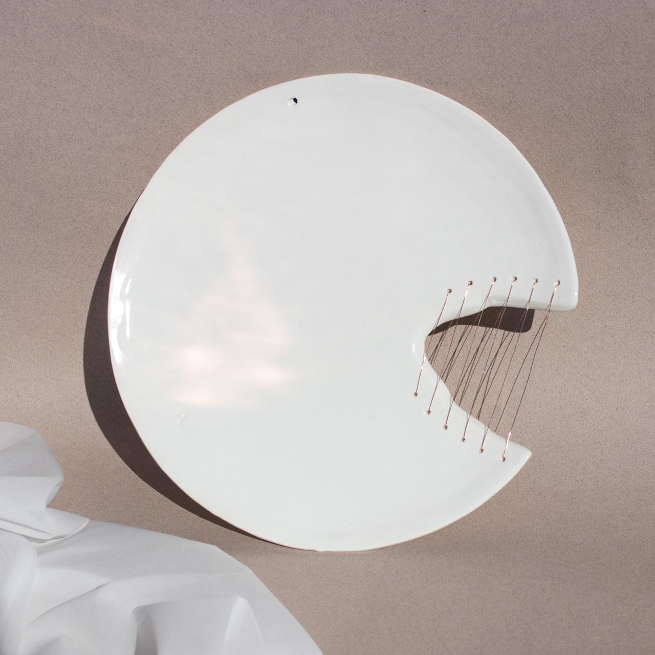 Alia Stitched Ceramic Plate