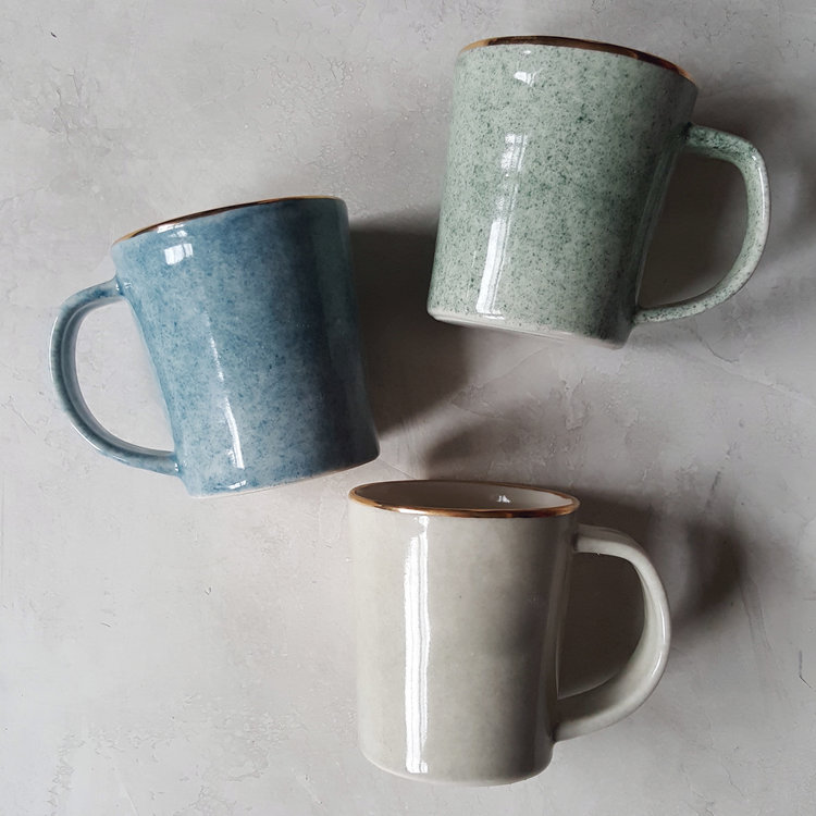 Dew Collection Ceramic Coffee Mugs by Apricity Ceramics