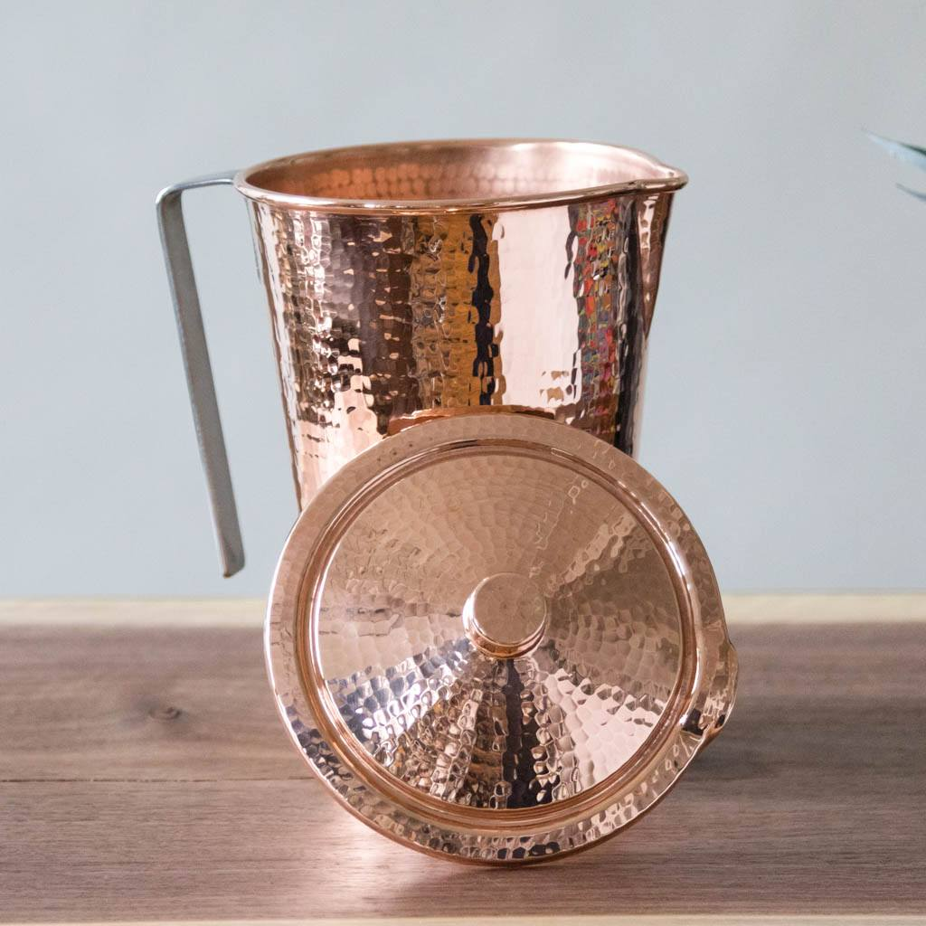 Pure Copper Water Pitcher with lid
