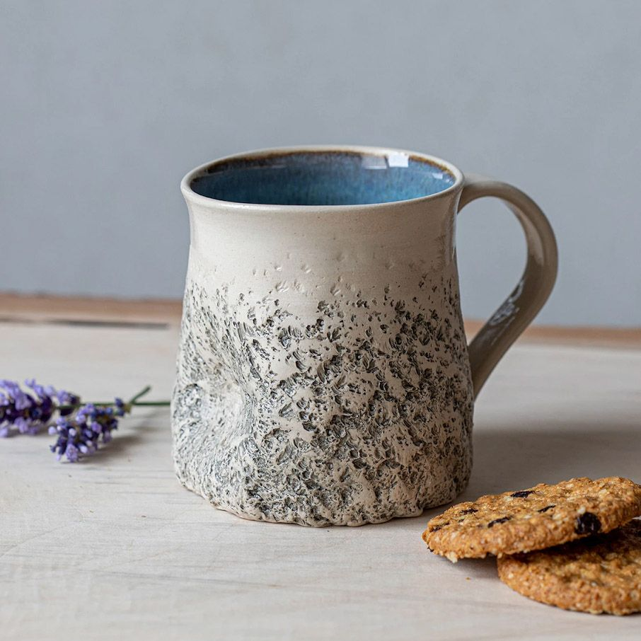 Stone-Like Handmade Ceramic Mug by Kari Ceramics