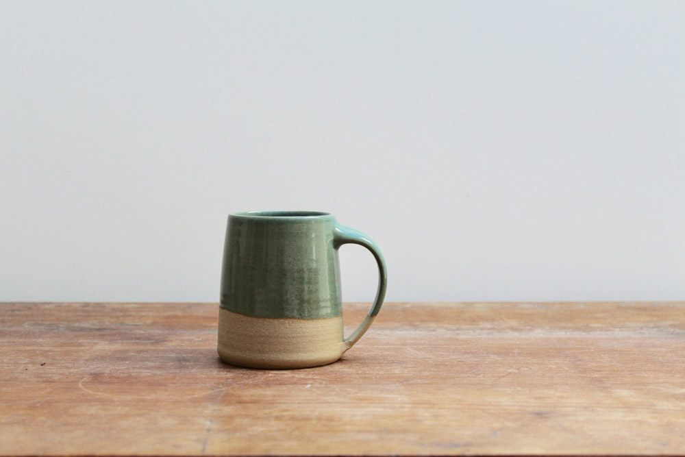 Upright Handmade Ceramic Mug by Lucy Rutter Studio Pottery