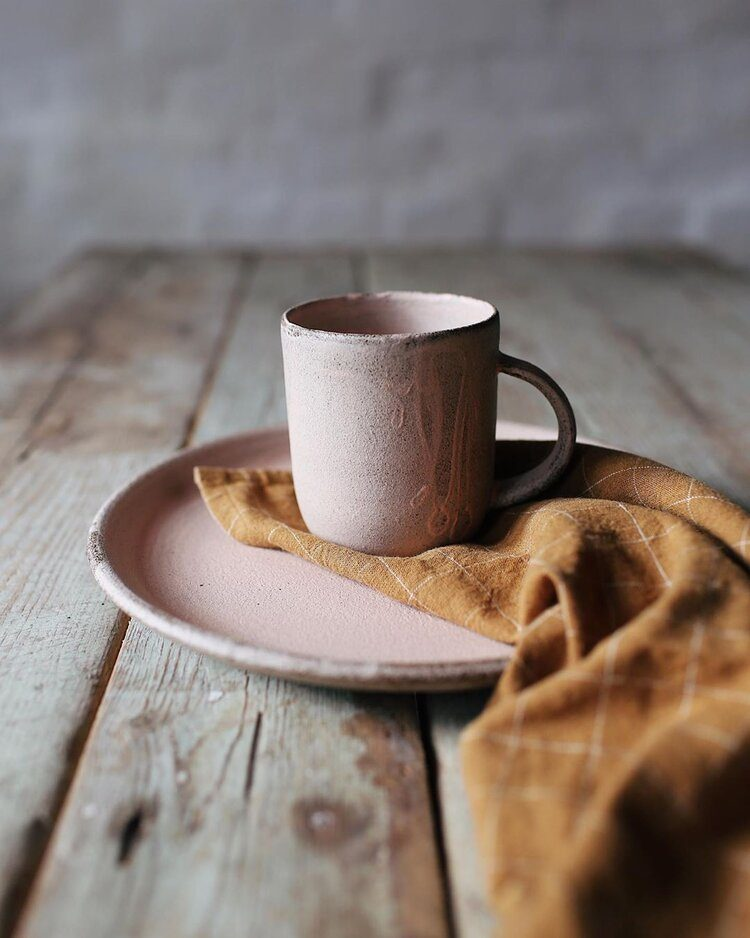 Handmade Blush Coffee Mug by OHSOYAY