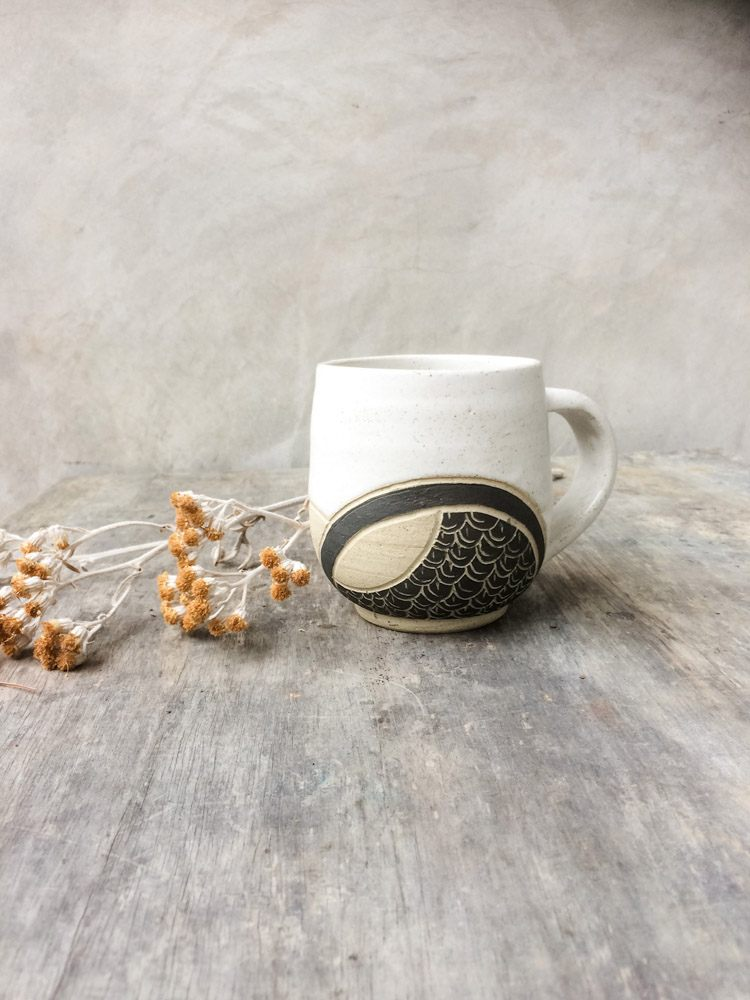 This Earth is Round Handmade Mug by River Ceramics