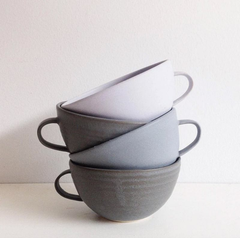 Farmhouse Handmade Latte Mugs by Sheldon Ceramics
