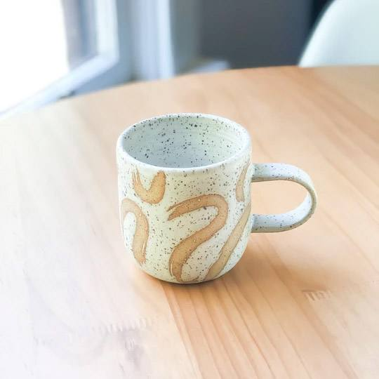 Brushy Everyday Handmade Mug by Stone and Sage Ceramics
