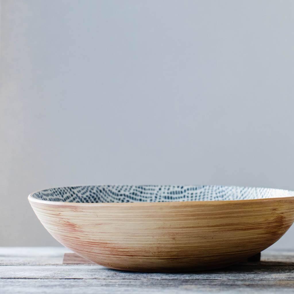 Terrafirma Ceramics - Ceramic Serving Bowl - view of natural stoneware base