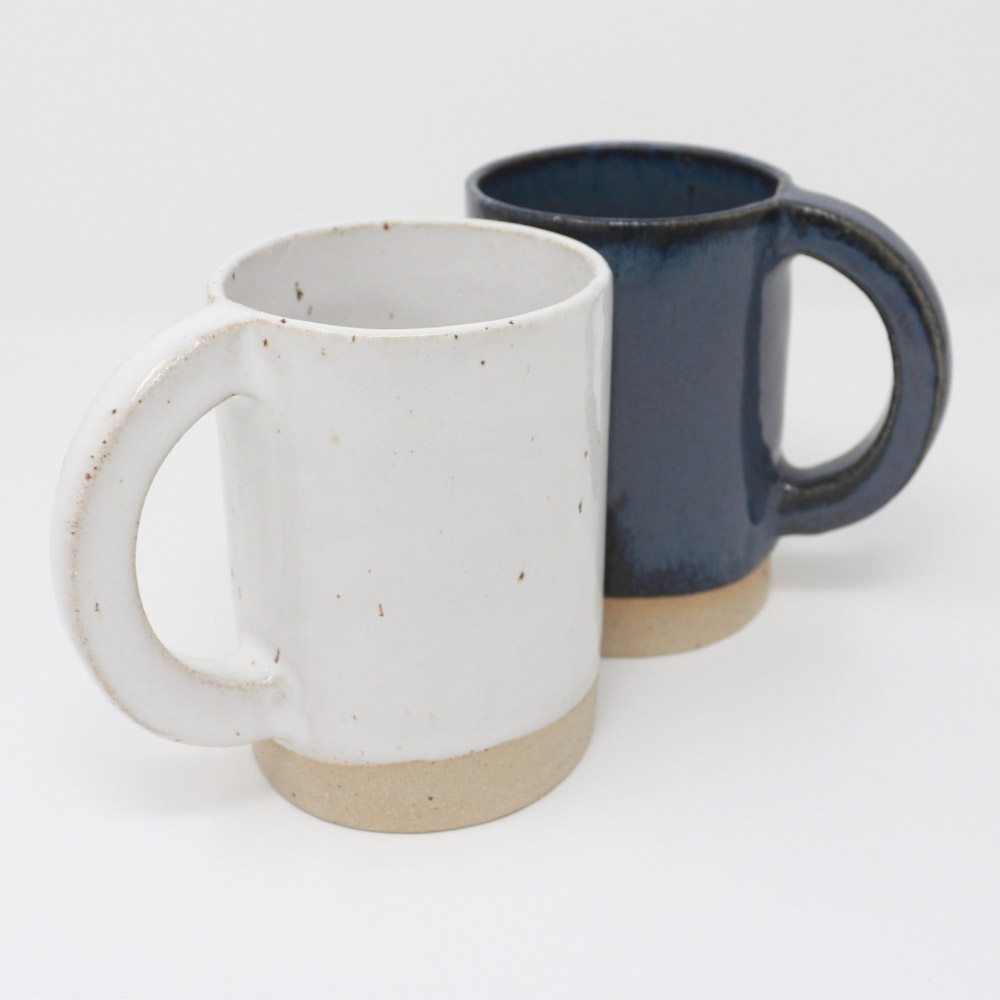 Dipped Handmade Stoneware Mugs by The Super Sparrow
