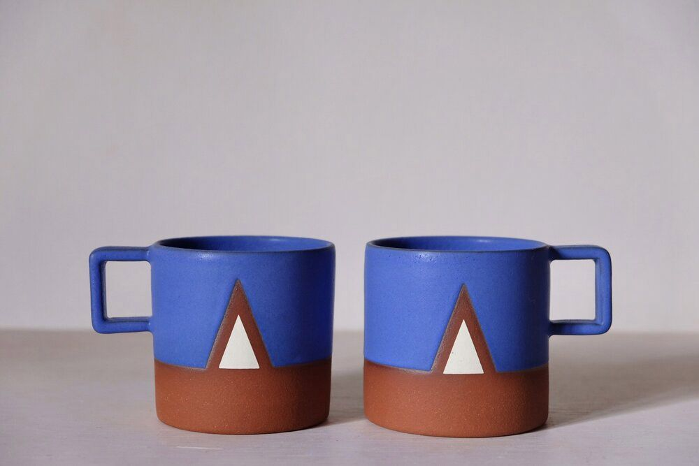 Blue Mountain Handmade Pottery Mugs by Wolf Ceramics
